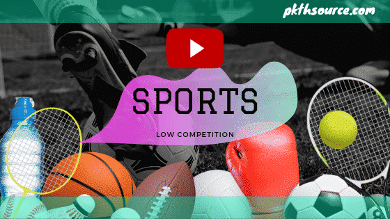 sports a low competition niche for youtube channel