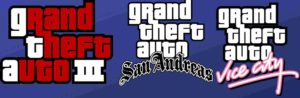 GTA sanandreas, GTA vice city, GTA III