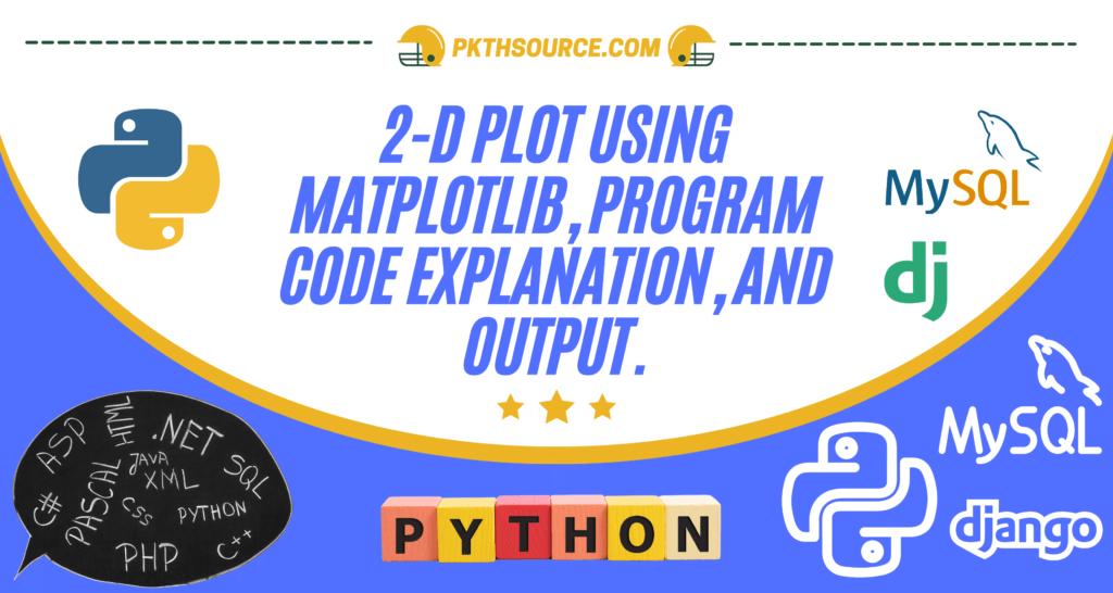 Python matploatlib