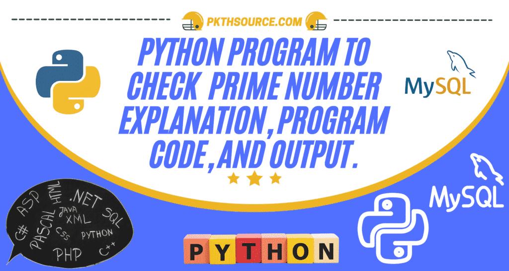 Python prime number